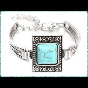 Jewelry - 🖤NWT••• Square Turquoise Bangle